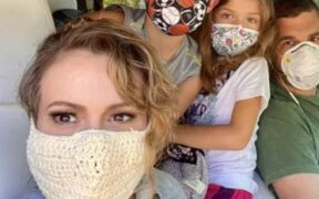 Alyssa Milano Get Trolled for wearing a face mask of crochet in a Photo
