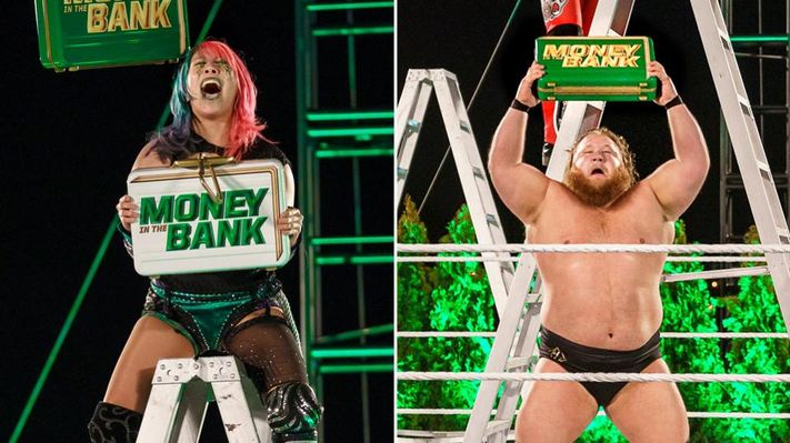Asuka and Otis win WWE Money in the bank 2020
