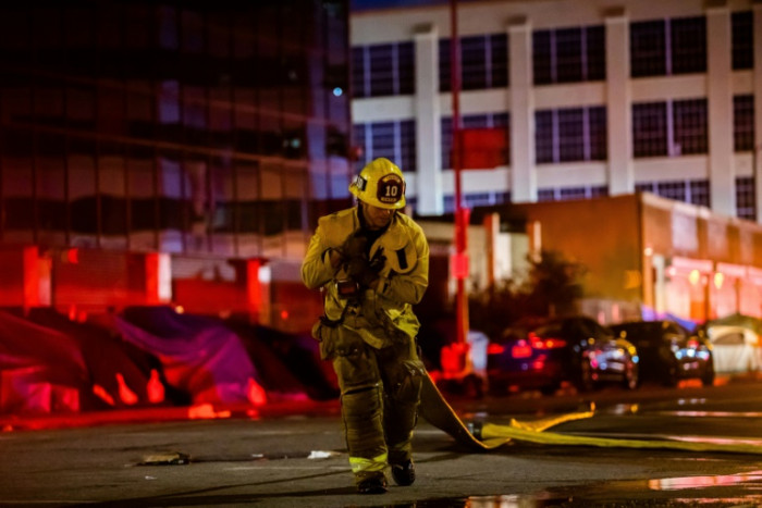 Firefighters injured in massive fire blast at downtown Los Angeles