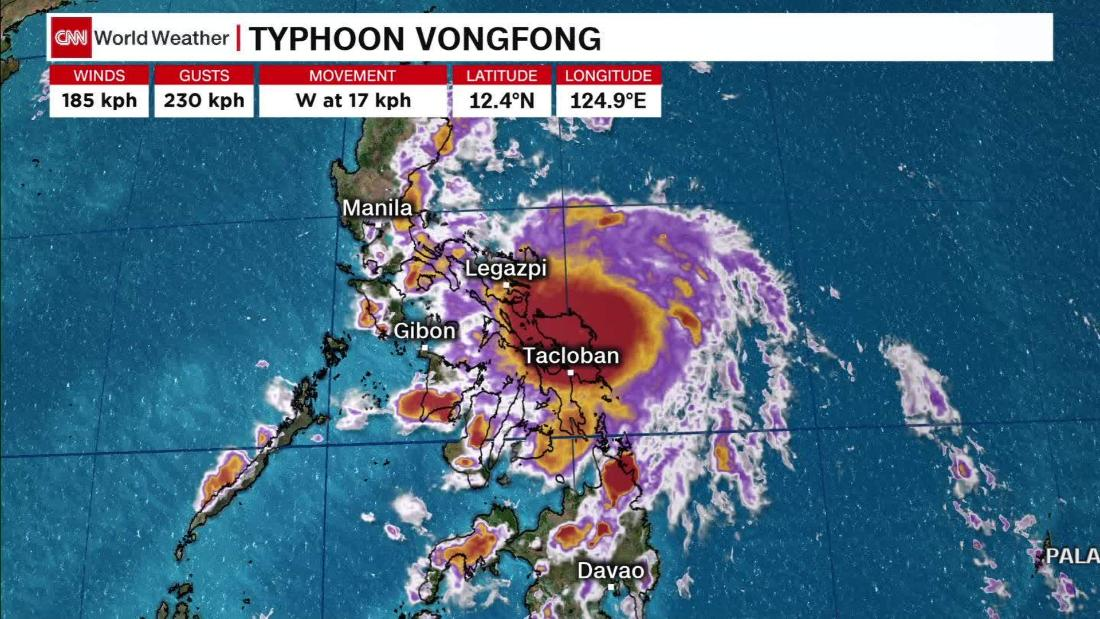 Near Philippines, Typhoon Vongfong getting intensified