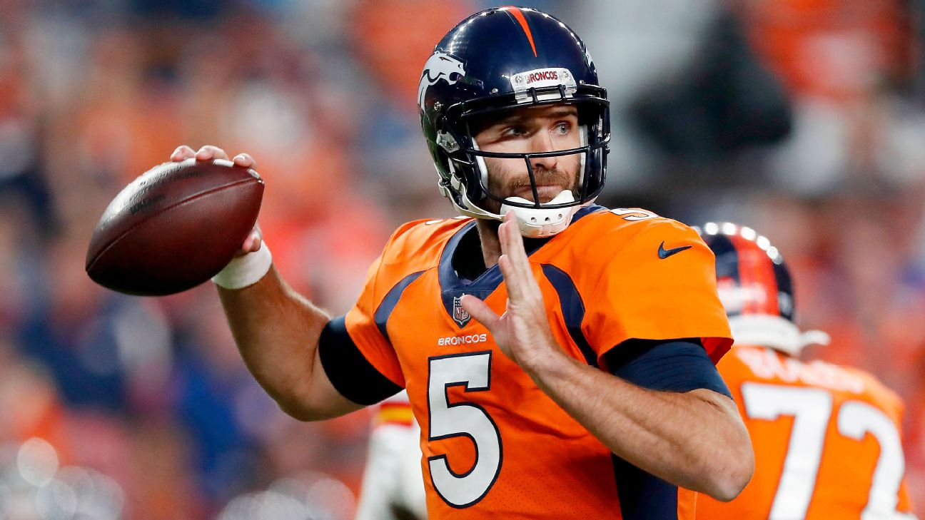 New York Jets signing Joe Flacco to a one-year deal