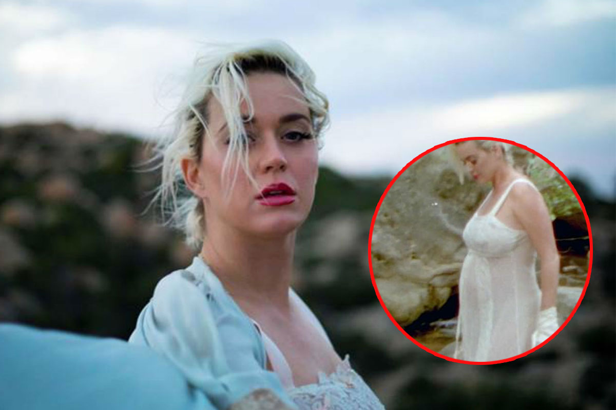 New video Daisies by Katy Perry in which she revealed off her baby bump
