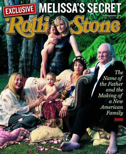 Melissa with son Beckett on the cover of Rolling Stone