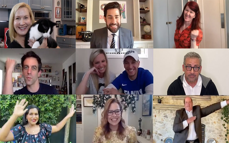 John Krasinski Reunites 'Office' Cast to Surprise Newlyweds on 'Some Good News'