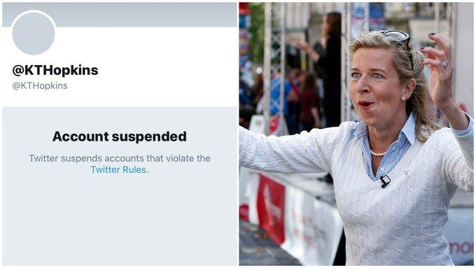 Columnist Katie Hopkins' Twitter account banned