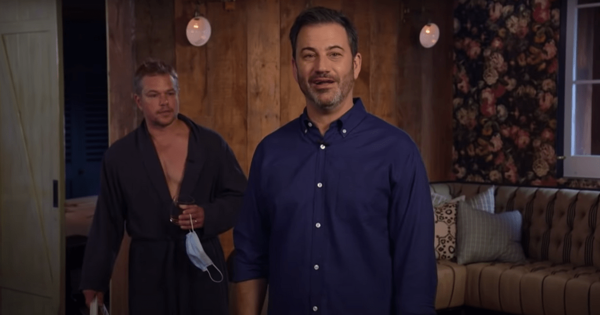 For Jimmy Kimmel Announces Summer Break and with Matt Damon in the Background