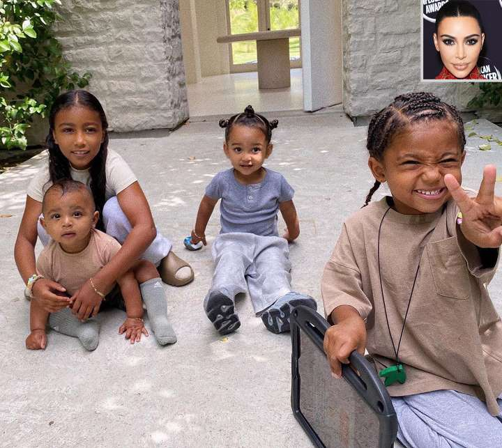 Kim Kardashian shared an Innocent Message written by Son Saint on the Mother's Day