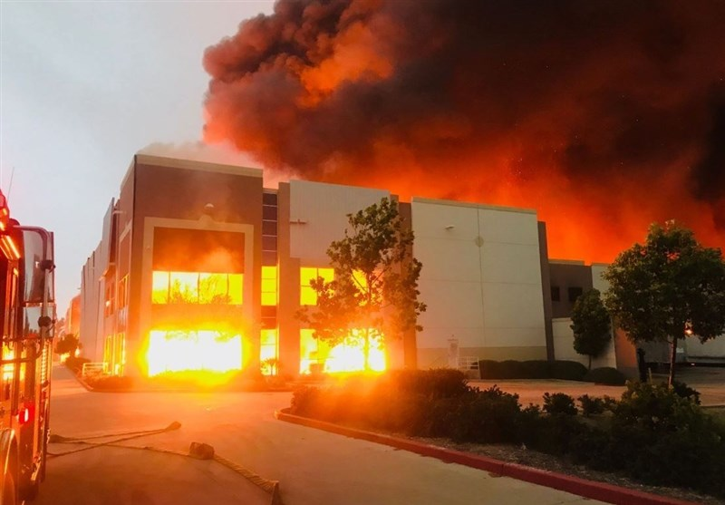 Massive fire At Amazon Distribution Center in Redlands