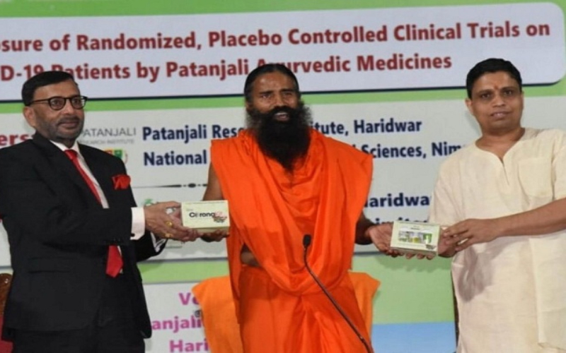 Ramdev's First Corona Treatment Medicine Launched
