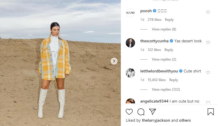 Kourtney Kardashian roasted by Scott Disick via Flirty Comment on Instagram Post