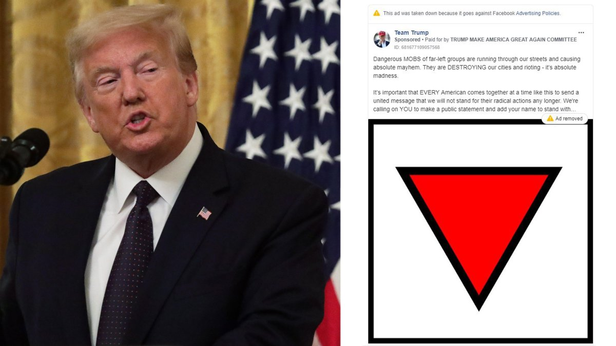 Trump's push Advertisements Taken Down by Facebook under agreement 'Organized Hate' Policy