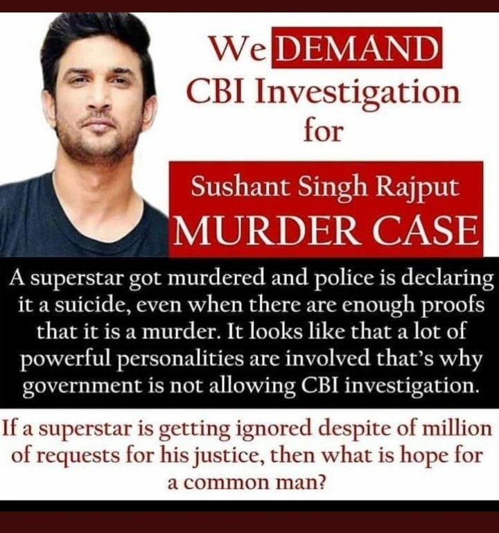 Fans demanded CBI Investigation in Sushant Singh Rajput Suicide #CBIMustForSushant