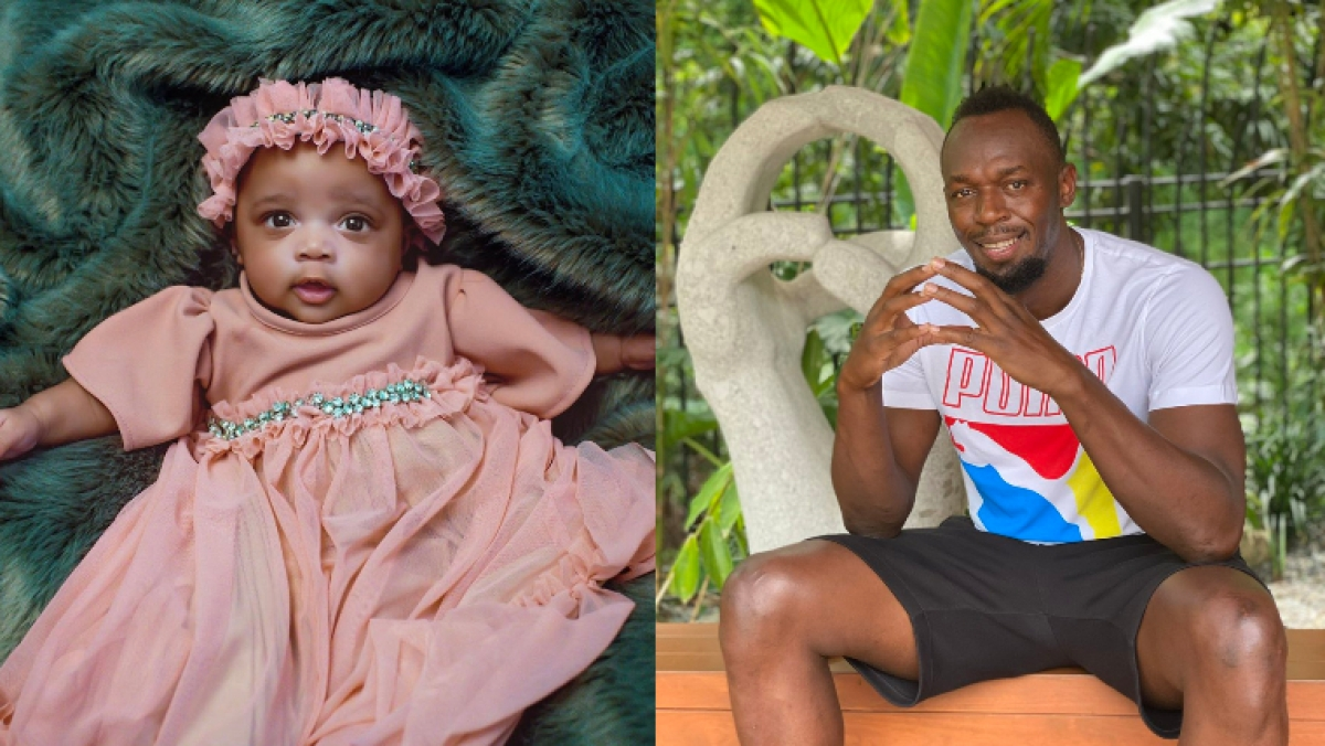 Usain Bolt Reveals Newborn Baby Daughter with her Photo & Name