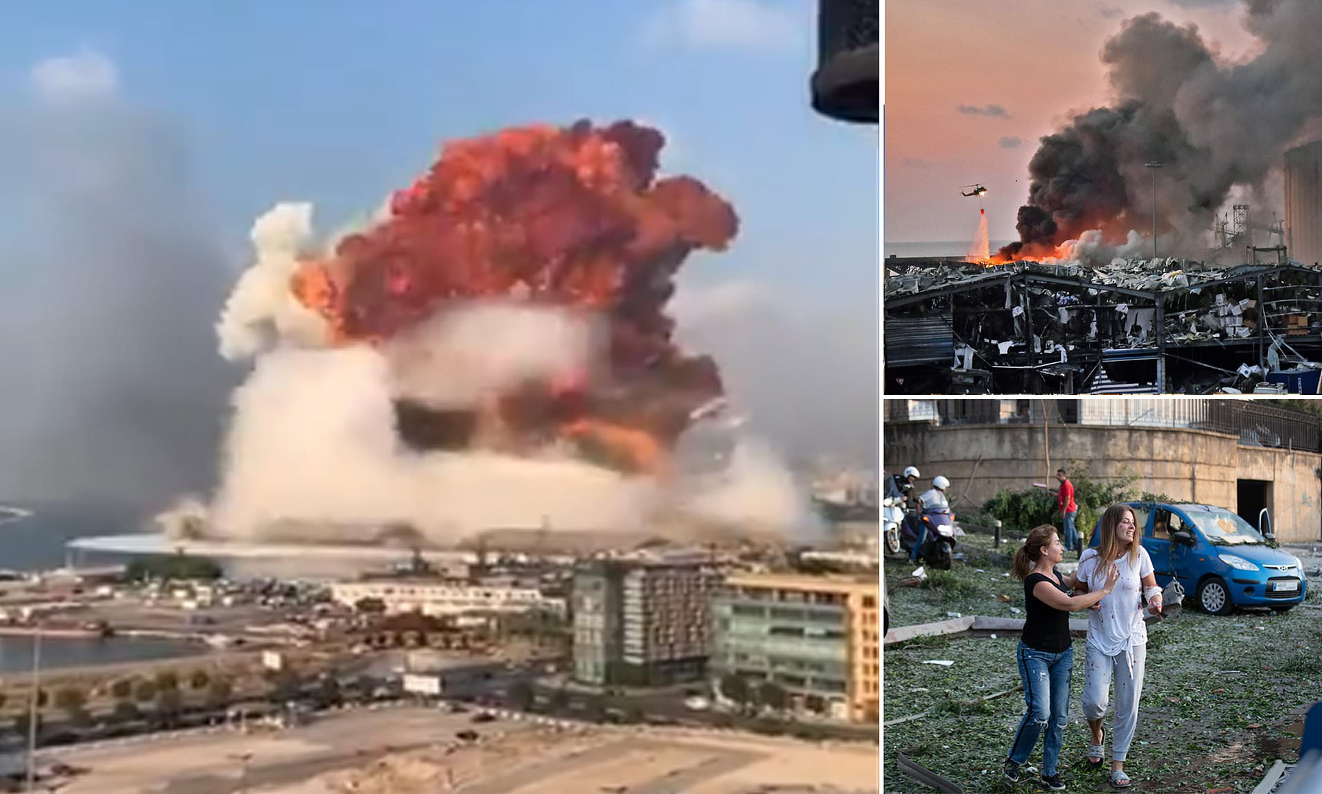 Heart-Wrenching massive explosion in Beirut; 100 killed and 4000 injured
