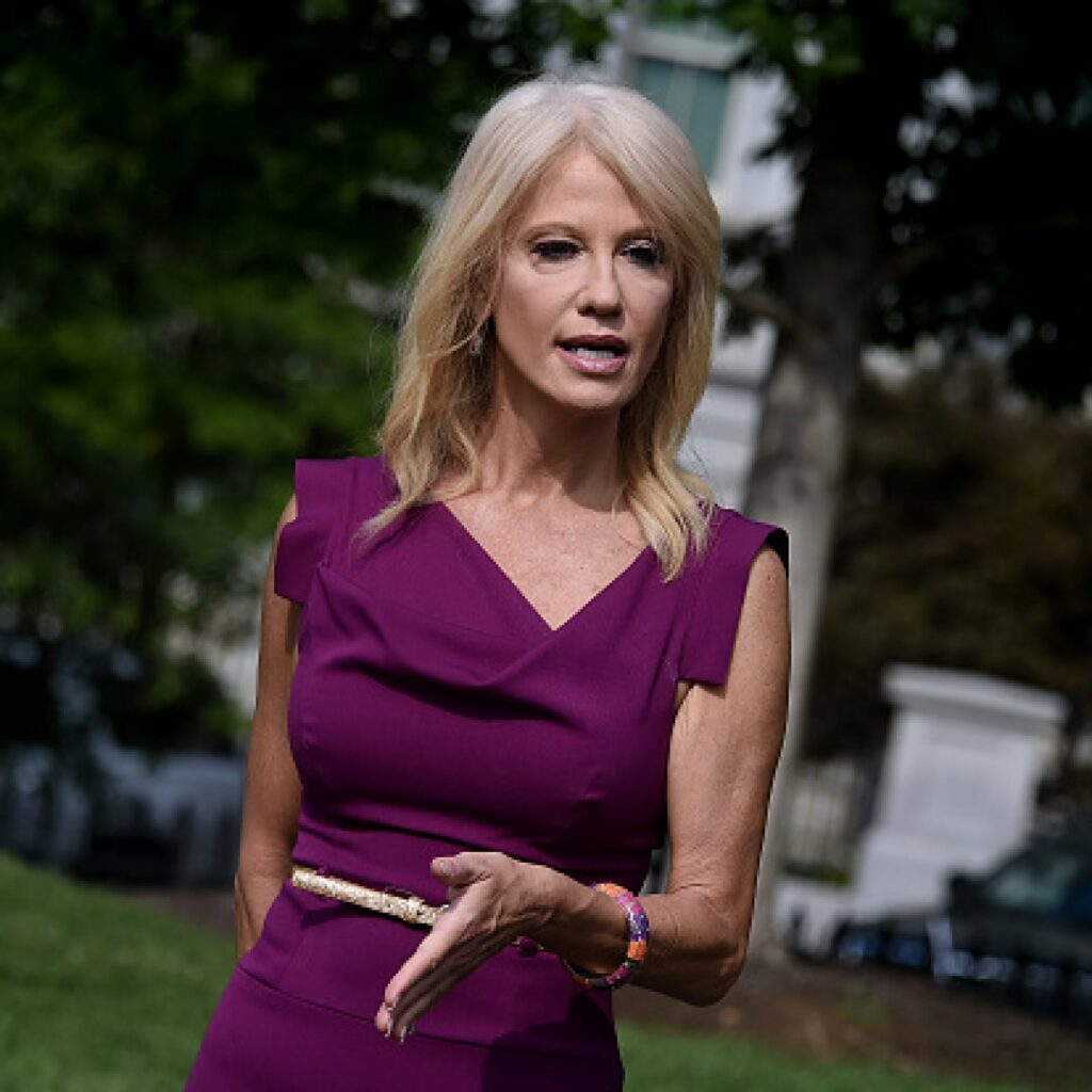 Kellyanne Conway told reporters not to ask sexist questions to Kamala Harris