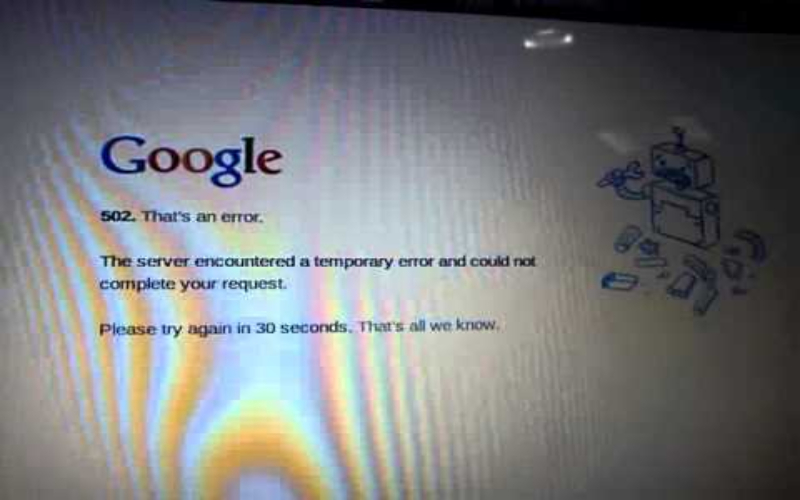 google server down