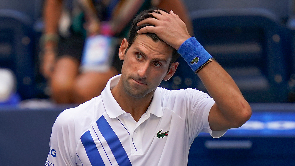 Novak Djokovic Disqualified from the US Open For Hitting the Line Judge