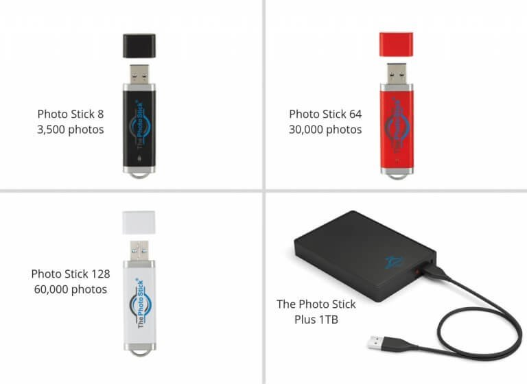 How Many Photos or Files Can You Save on PhotoStick?