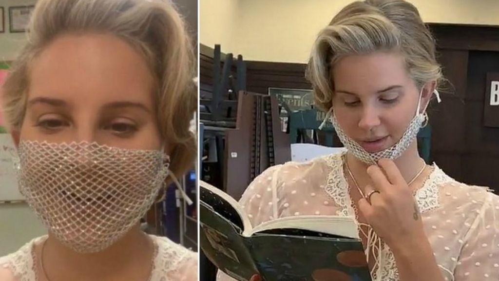 Singer Lana Del Rey Criticized Online For Wearing Mesh Mask on an Event