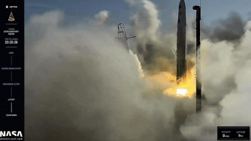 Astra rocket fails to reach space during test launch for US military