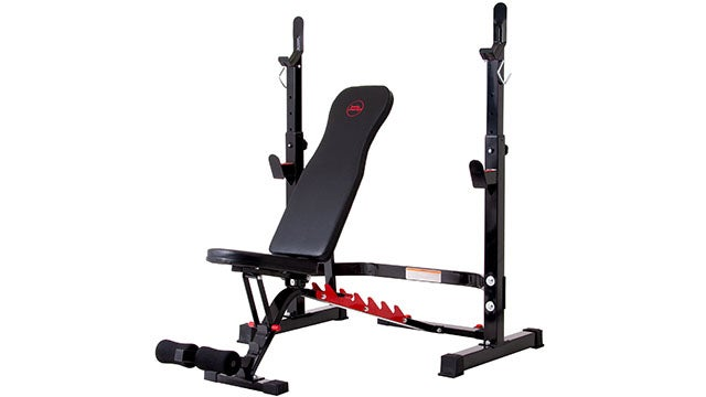 Body Champ Olympic Weight Bench with Rack
