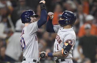 Kyle Tucker's go-ahead two-run homer in the eighth seals Astros' 6-3 win over Padres