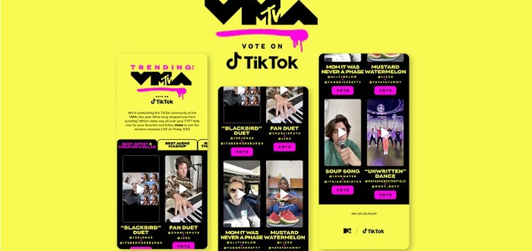 TikTok Teams Up with MTV for New 'Trending: VMA' Awards
