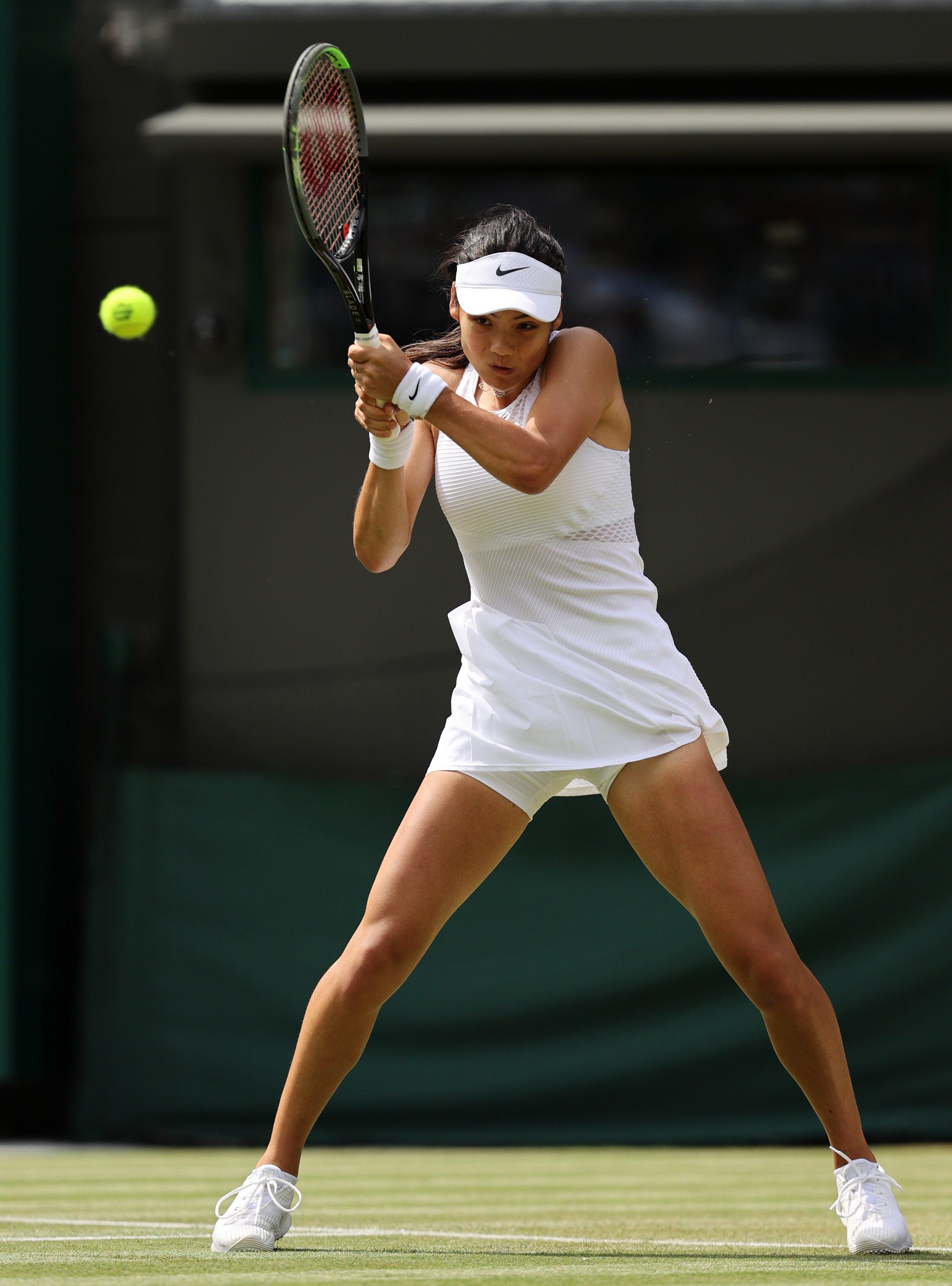 Raducanu was superb at Wimbledon earlier this year