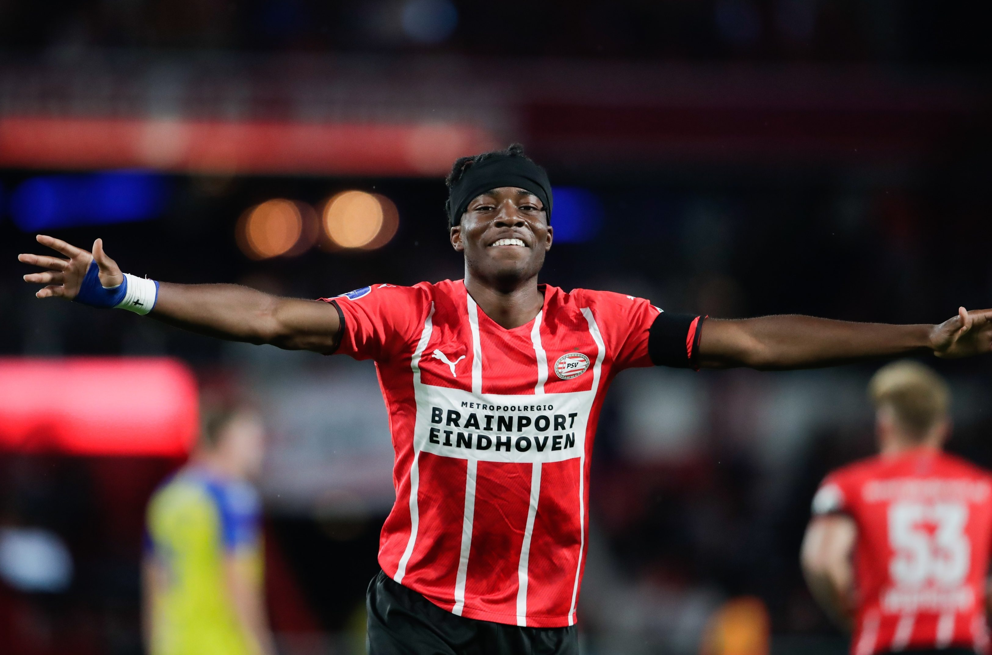 Madueke made his first senior appearance for PSV in August 2019 and is now a regular starter for them