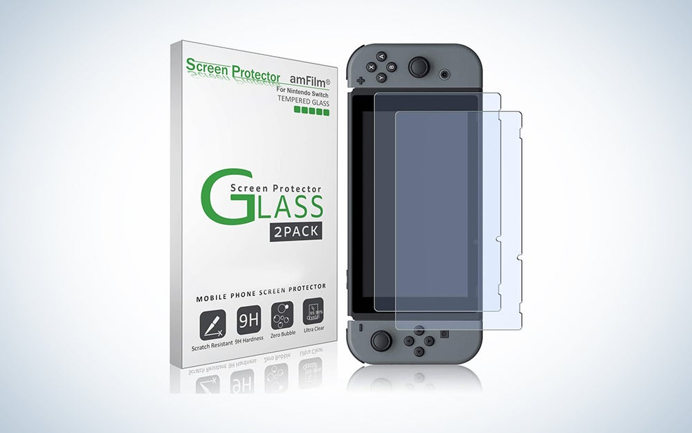 amfilm glass srcreen protector is our pick for best switch accessories.