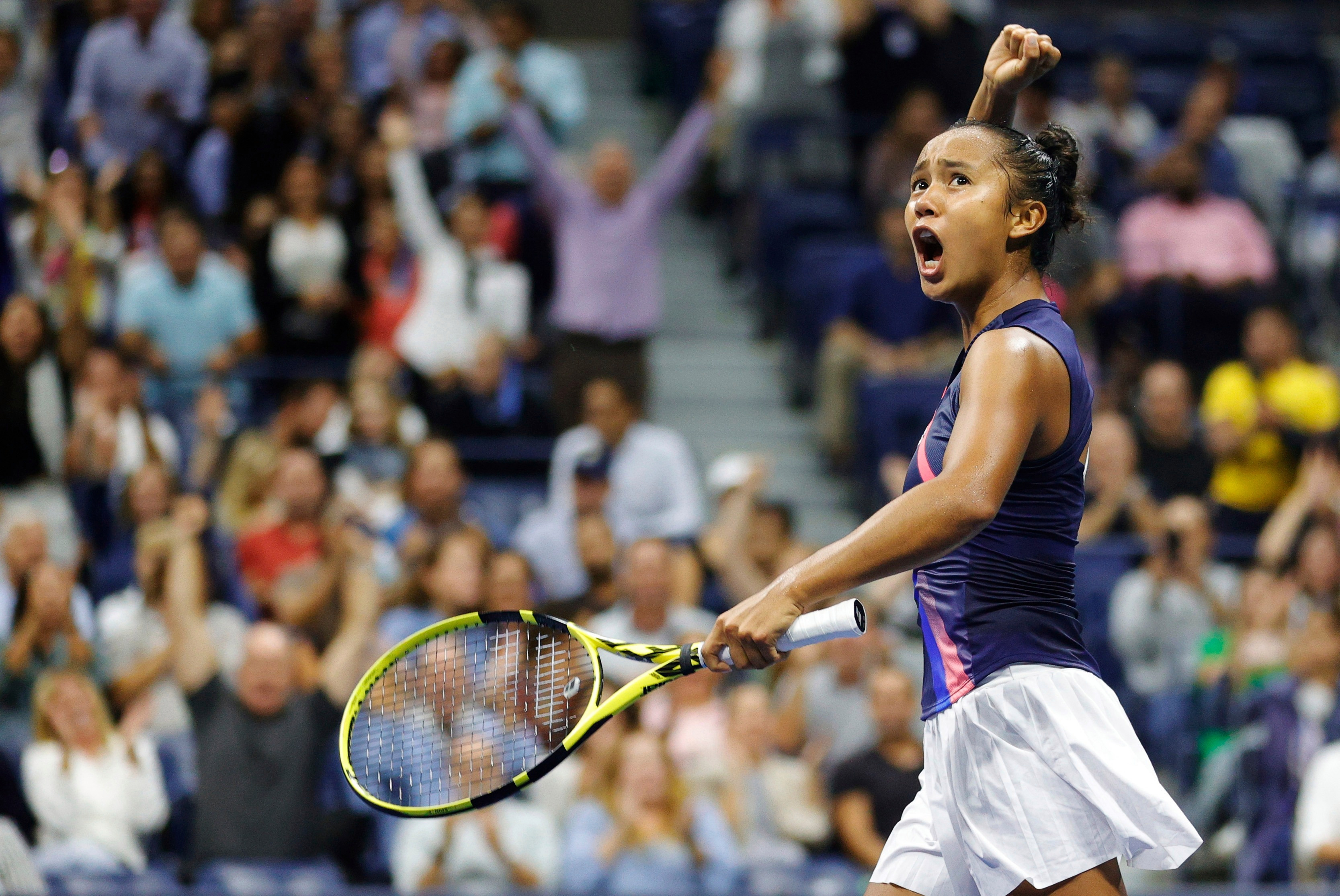 Fernandez has proved popular with the US Open crowd and beat Naomi Osaka en route to the final