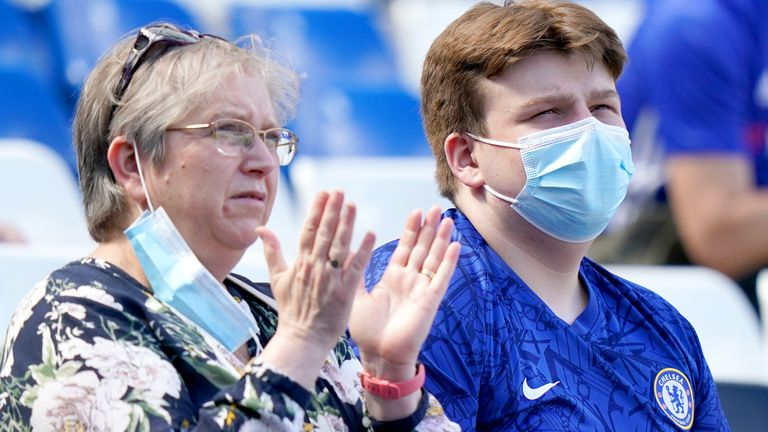 Chelsea supporters (PA)