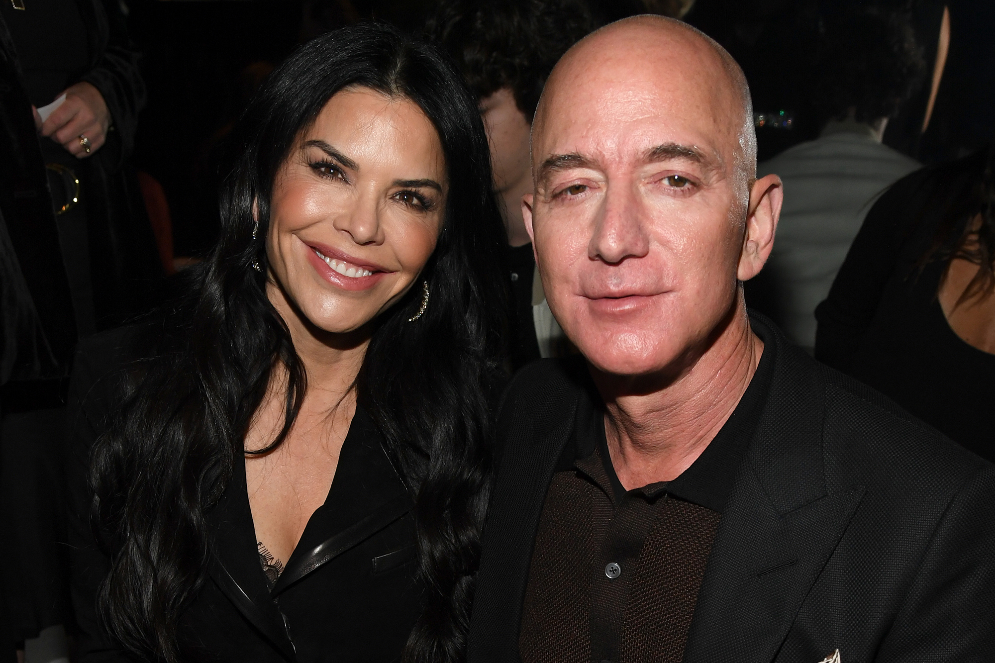 Jeff Bezos and Lauren Sanchez enjoy date night at play about capitalism