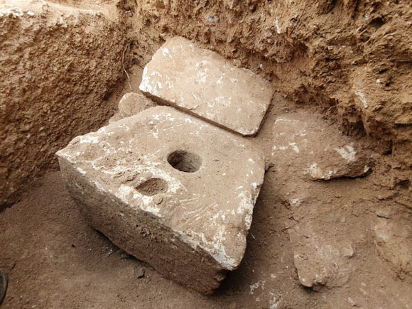 The 2,700-year-old private toilet at Armon Hanatziv in Jerusalem, Israel. Image credit: Israel Antiquities Authority.